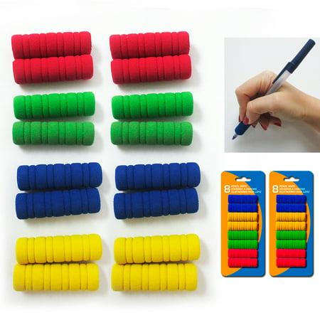 16 Groovy Foam Pencil Grips Pen Comfort Soft Sponge Children School Handwriting