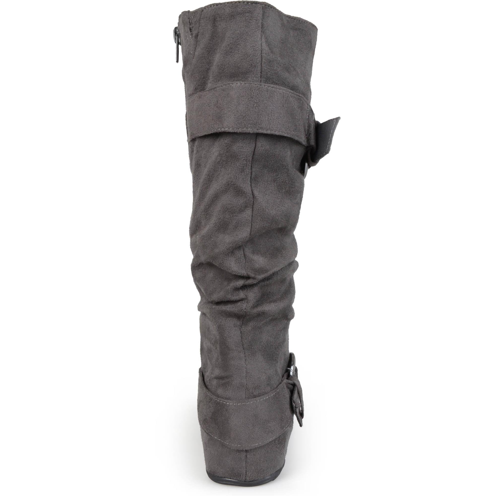 Brinley Co. Women's Slouchy Wide Calf Boots - Walmart.com
