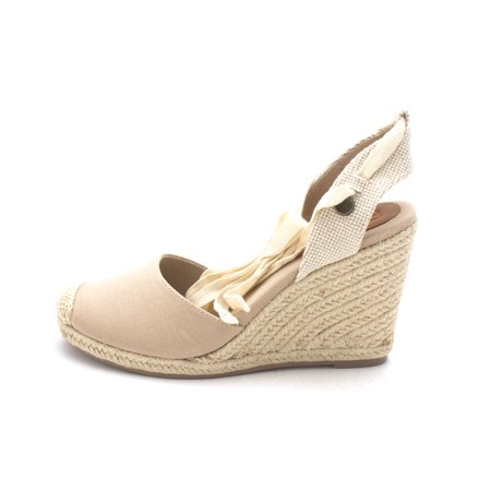 e5c1e56055a24 Womens Bolsa Chica Cotton Closed Toe Casual Espadrille Sandals