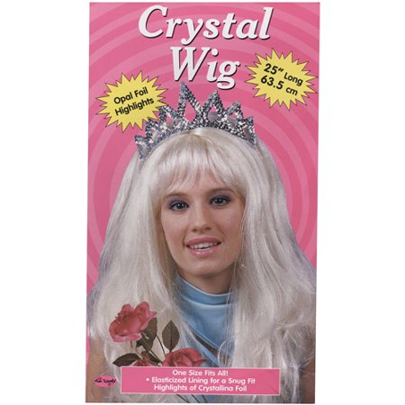 Crystal Wig Adult Halloween Accessory - Short Pink Wigs
