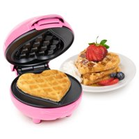 Deals on Nostalgia Waffle Heart Pink