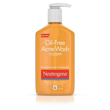 Neutrogena Oil-Free Salicylic Acid Acne Fighting Face Wash, 9.1 fl. (Best Cleanser For Back Acne)