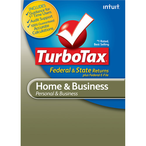 TurboTax Home and Business 2012 Federal + State + Federal E-File
