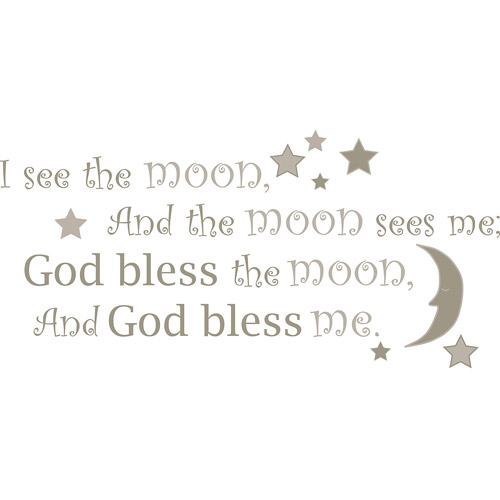 WallPops I See the Moon Wall Wishes Decal Set