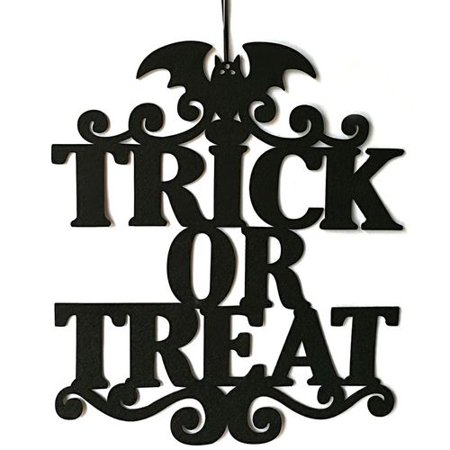 Welcome To Our Halloween Party (AkoaDa Halloween Welcome Sign Welcome Word with Witch Pattern Decoration Props for Door Window Bar Shopping Malls Halloween)