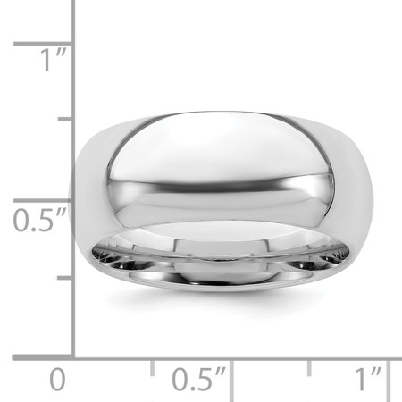925 Sterling Silver 8mm Comfort Fit Wedding Ring Band Size 11.00 Classic Domed Cf Style Mm B Width Fine Jewelry For Women Gifts For Her - image 4 de 6