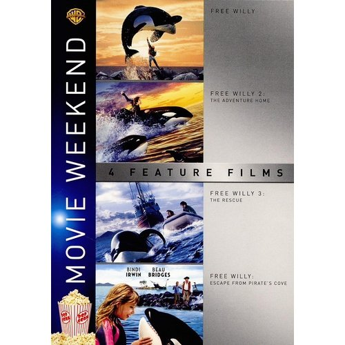 4 Film Favorites: Free Willy / Free Willy 2: The Adventure Home / Free Willy 3: The Rescue / Free Willy 4: Escape From Pirate's Cove