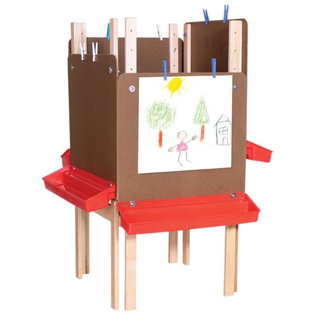 Wood Designs 19123 - Art Workspace For 4 Students With Acrylic