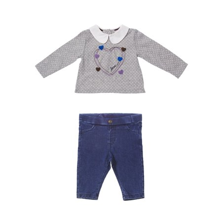 ED Ellen DeGeneres Baby Heart Pant Set (Boys & Girls) (Jordan Toddler Outfit)