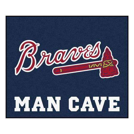 Atlanta Braves Mat - MLB - Atlanta Braves Man Cave Tailgater Rug 5'x6'