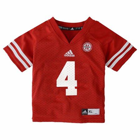 41bd6dc87 Nebraska Cornhuskers NCAA Adidas Toddler Red Official Home #4 Football  Jersey - Walmart.com