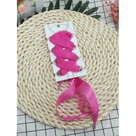 Ribbon Shoe Laces (NK FASHION Wide Flat Satin Ribbon Shoelaces,Silk Ribbon Shoe Laces For Kids,Youths & Women's Sneaker)