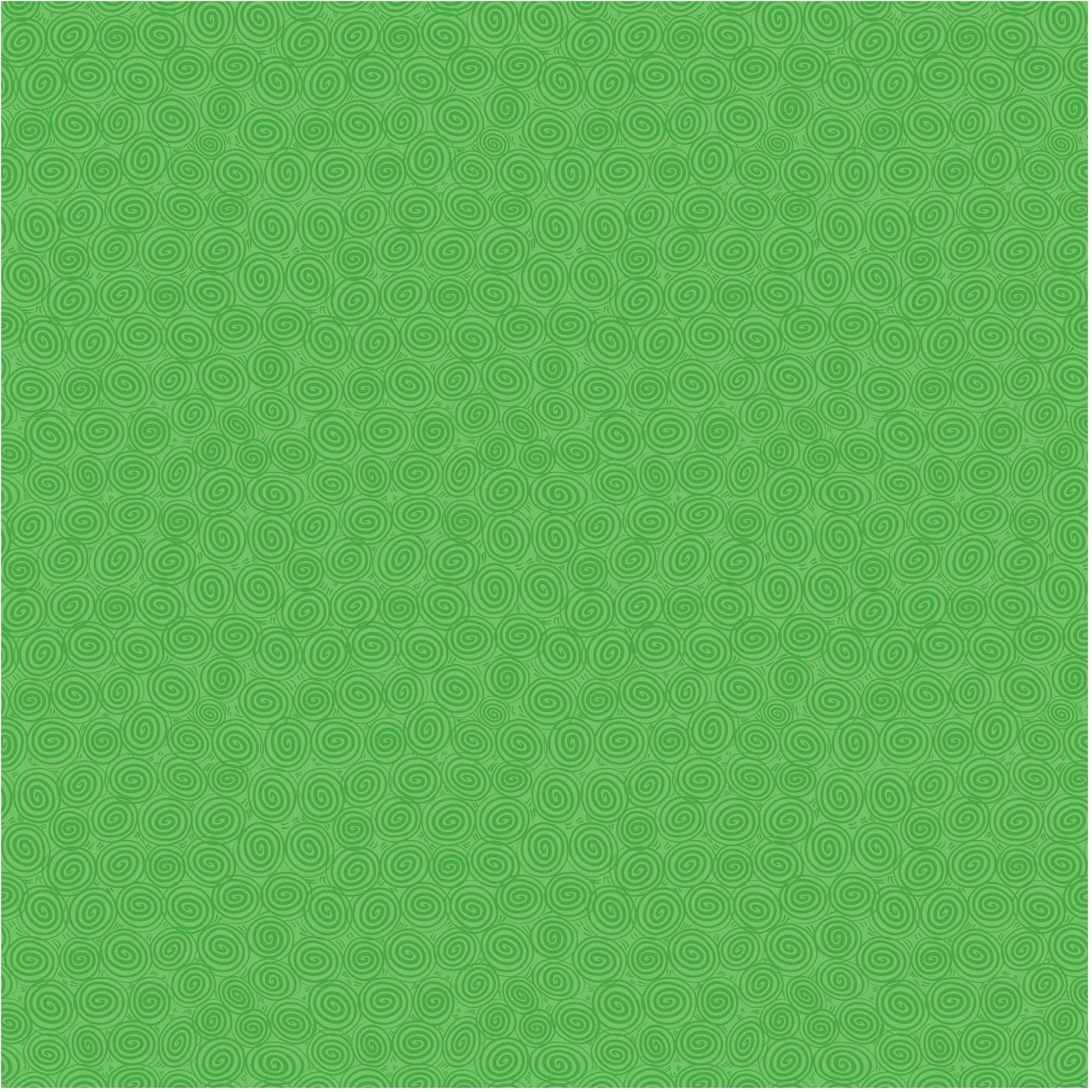 "Waverly Inspirations Cotton 44"" Sarah's Swirls Kelly Green Fabric, per Yard"