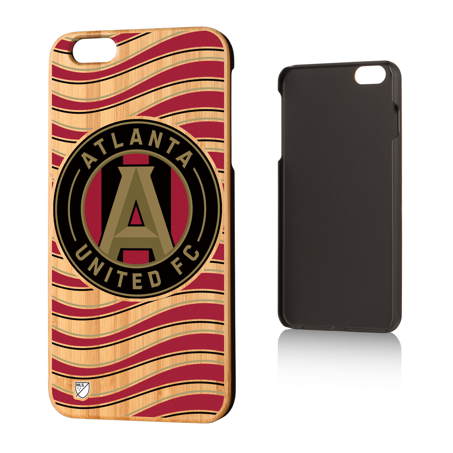 Atlanta United FC ATLUTD Wave Bamboo Case for iPhone 6 Plus