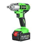 128VF 16800mAh Cordless Impact Wrench Brushless Motor 350 Nm Max Torque with Fast Charger Impact Wrench High Torque Drill Tool With LED Light