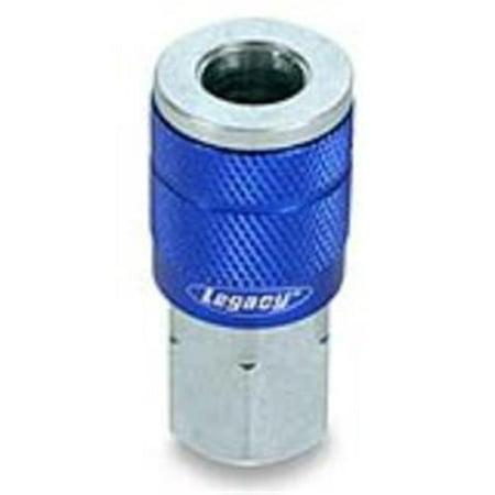 Legacy Mfg. Co.  LEG-A72410C-X ColorConnex Type C 0.25 in. Blue Coupler FNPT - image 1 de 1