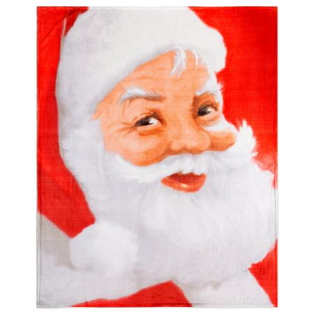 Safdie & Co. Christmas Throw Blanket Flannel Ribbed 50