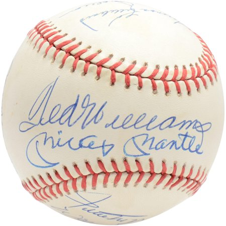500 Home Run Baseball (500 Home Run Club Autographed Vintage Baseball with 11 Signatures - BAS A68273 Graded 9 - Fanatics Authentic Certified )