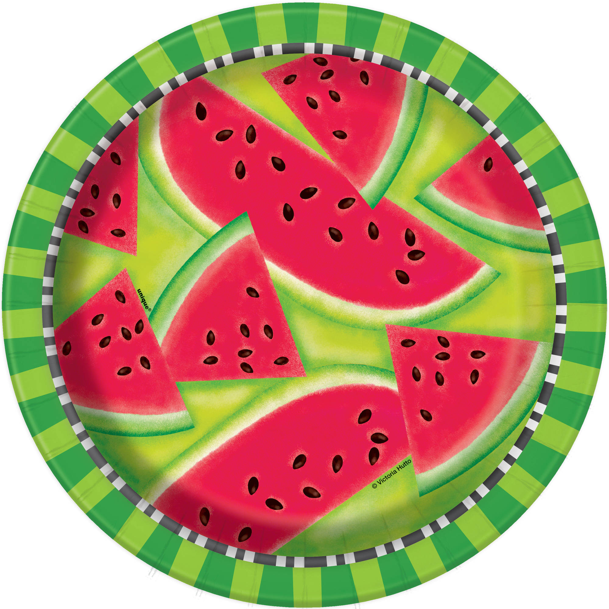 Watermelon Summer Paper Dinner Plates, 9in, 8ct