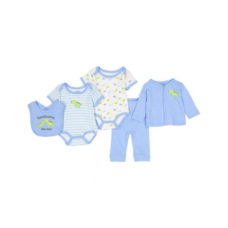 Sweet & Soft 2324797 Baby Boys 5 Piece Take Me Home Set, Dino - Case of 24 - image 1 de 1