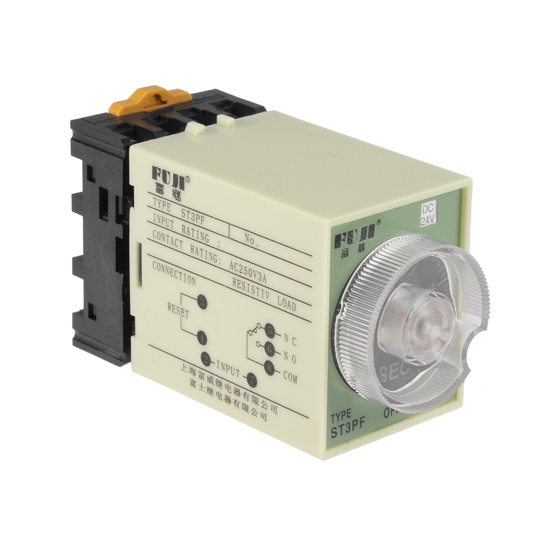 24vdc 5s 8 Terminals Range Adjustable Delay Timer Time Relay St3pf W Electrical With Timers Base