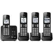 Panasonic KXTGD394C DECT 6.0 Expandable Digital Cordless Answering System 4-Handset- Refurbished