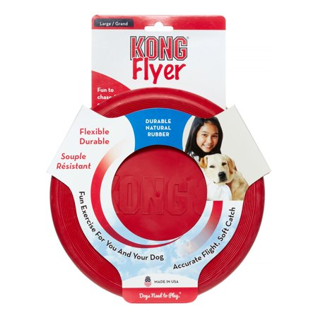 - KONG Classic Flyer Dog Toy, Large, Red
