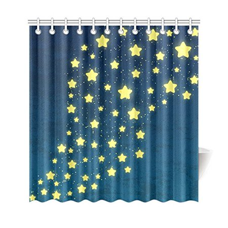 GCKG Universe Galaxy Outer Space Shower Curtain, Starry Sky Polyester Fabric Shower Curtain Bathroom Sets 66x72 Inches - image 3 of 3
