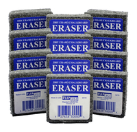 Flipside Dry Erase Felt Student Erasers, 2 x 2 Inches, Pack of 12
