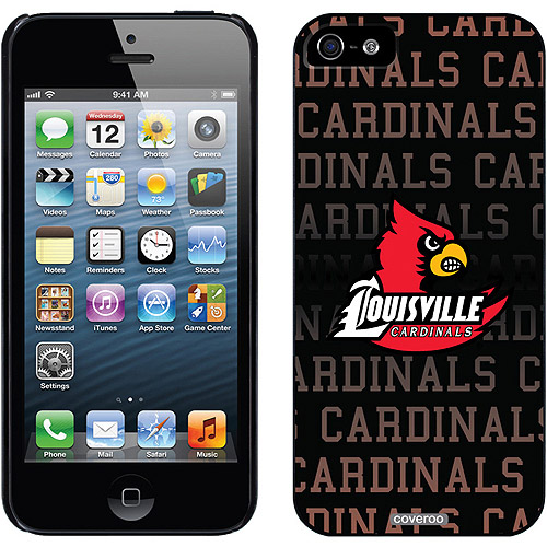 University of Louisville Cardinals Repeat Design on Apple iPhone 5/5SE/5s Thinshield Snap-On Case by Coveroo