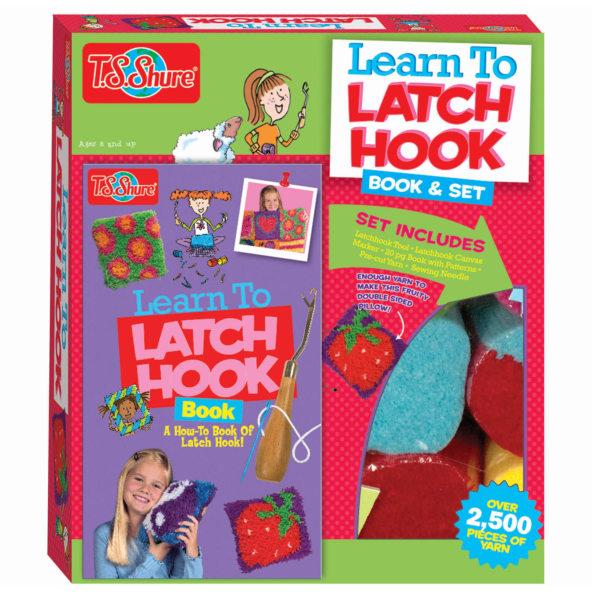 T.S. Shure Learn To Latchhook Activity Set and Book