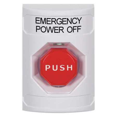 Emergency Power Off Push Button,White SAFETY TECHNOLOGY INTERNATIONAL SS2305PO-EN