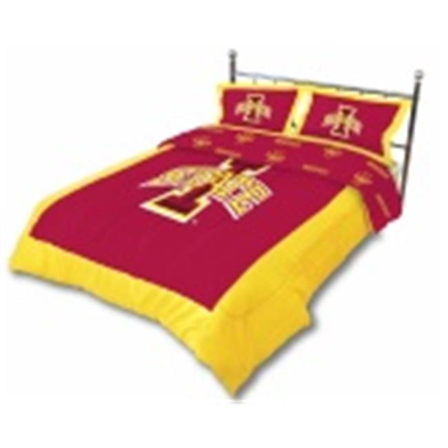Comfy Feet ISUCMTW Iowa State Reversible Comforter Set - Twin