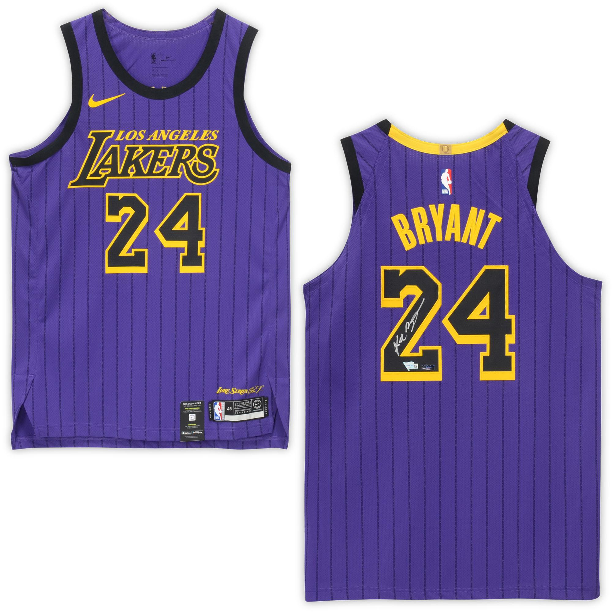 Kobe Bryant Los Angeles Lakers Autographed #24 City Edition Authentic Jersey - Panini Authentic - Fanatics Authentic Certified