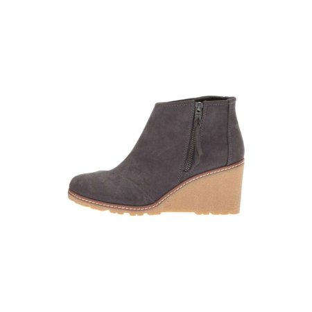 TOMS Womens Avery Suede Closed Toe Ankle Fashion Boots