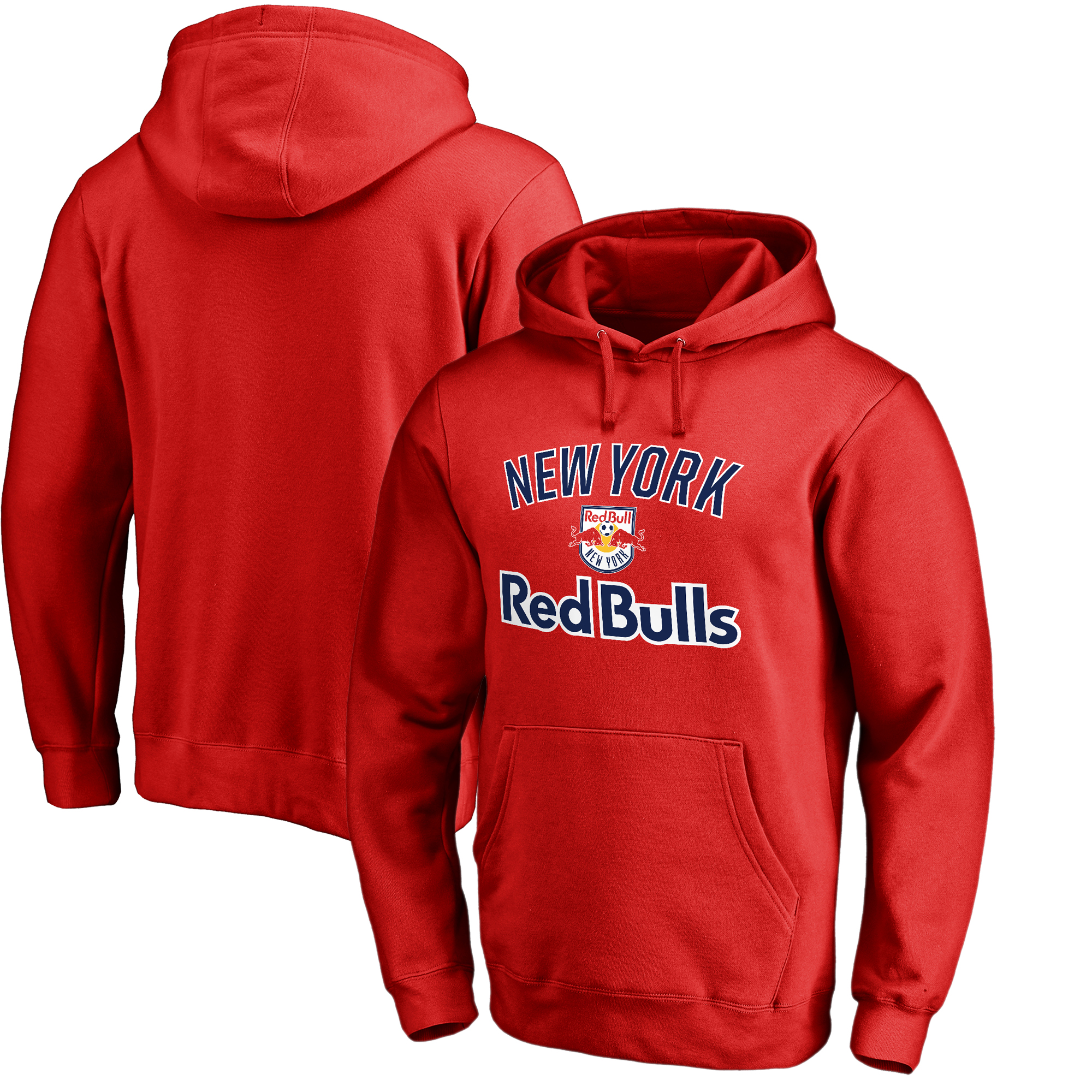 New York Red Bulls Fanatics Branded Victory Arch Pullover Hoodie - Red