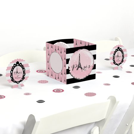Paris, Ooh La La - Paris Themed Party Centerpiece & Table Decoration Kit