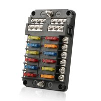 product image tsv 12 way 24 fuse box circuit standard blade block holder w/  led for car
