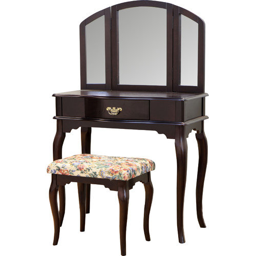 Mega Home Queen Anne Vanity Set with Mirror