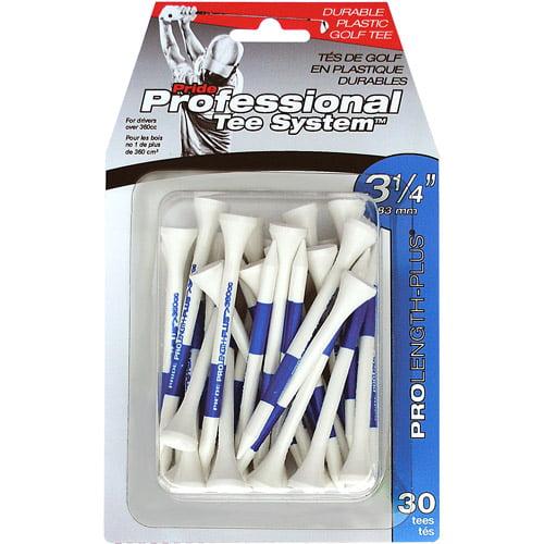 "Pride Professional 3-1/4"" 30ct Plastic Tees"