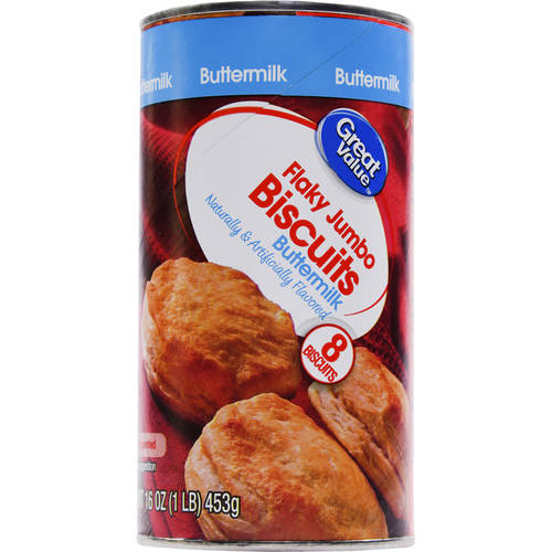 Great Value Buttermilk Flaky Jumbo Biscuits, 8 ct, 16 oz