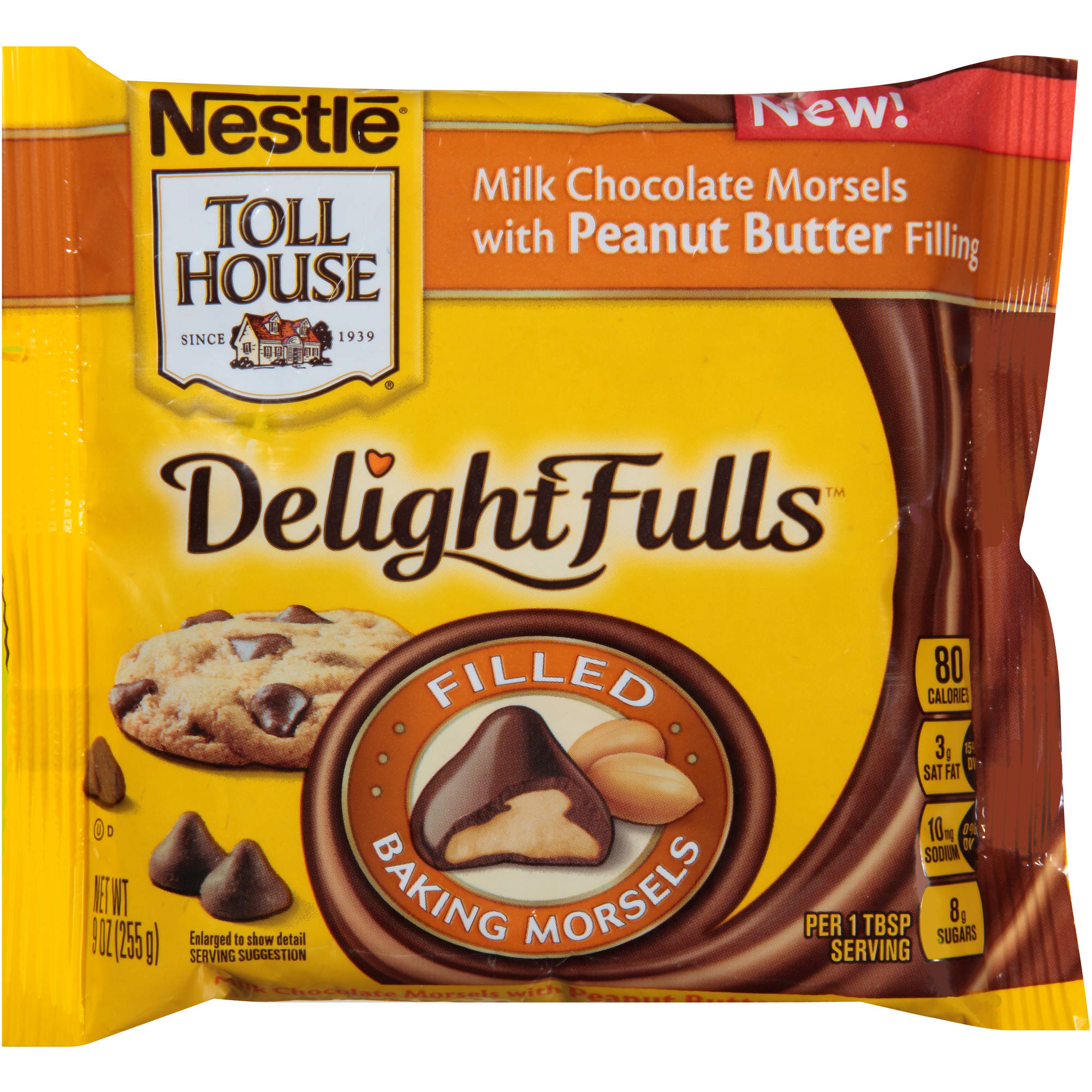 Nestle Toll House DelightFulls Milk Chocolate Morsels with Peanut Butter Filling, 9 oz