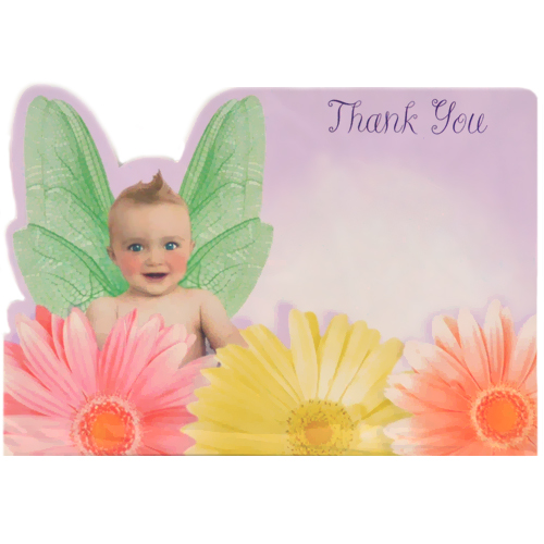 Baby Shower 'Flitterbyes' Thank You Notes w/ Envelopes (8ct)