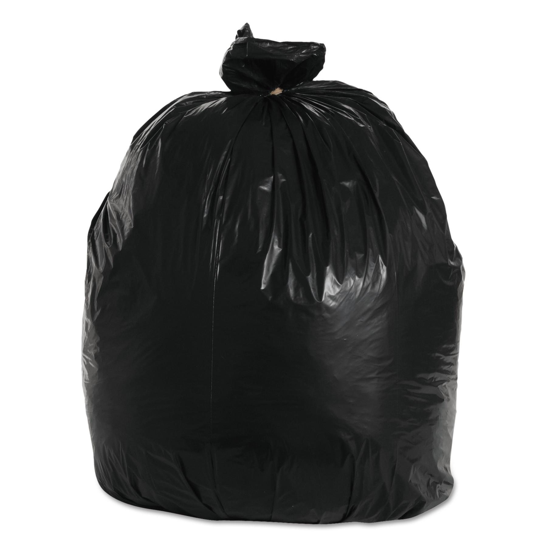 Boardwalk Super-Heavy Grade Trash Bag, 33x39, 1.2 Mil, 33 Gal, Blk, 10 Bag/RL, 10 Rolls/CT