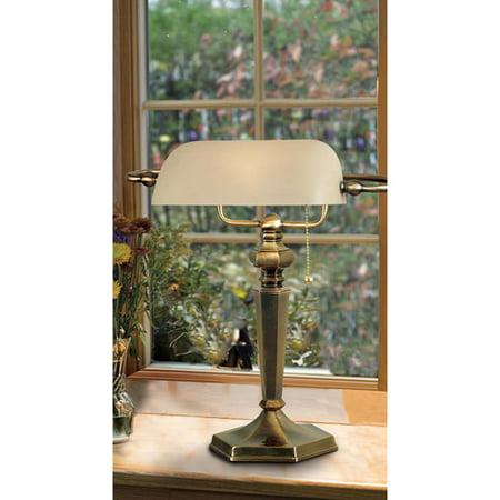 Kenroy Home Mackinley Banker Lamp, Georgetown Bronze