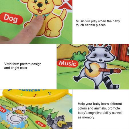 WALFRONT Baby Music Mat Children Crawling Piano Carpet Educational Musical Toy Kids Gift - image 3 of 9