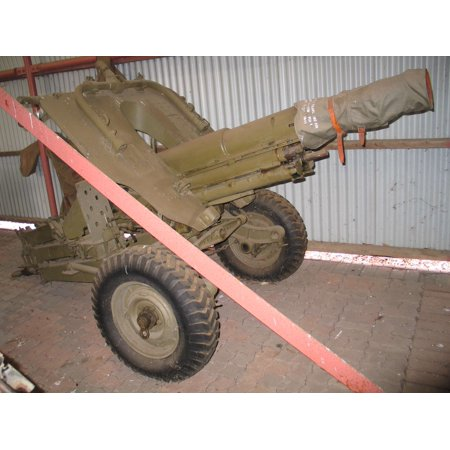 Framed Art For Your Wall OTO Melara 105/14 pack howitzer in Royal Australian Armoured Corps Tank Museum, Puckapunyal, Victori 10x13 - Pack Howitzer