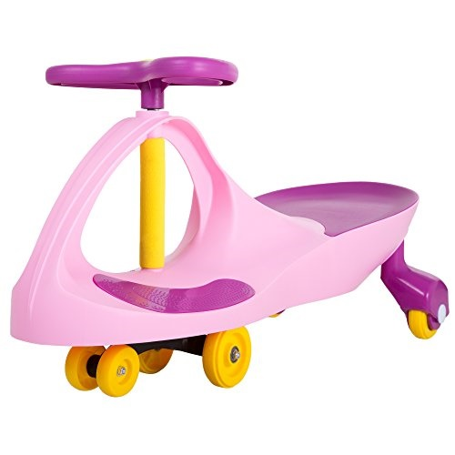 Lil' Rider Ride on Toy Wiggle Car by Ride on Toys for Boys and Girls, 2 Year Old And Up, (Pink and Purple)