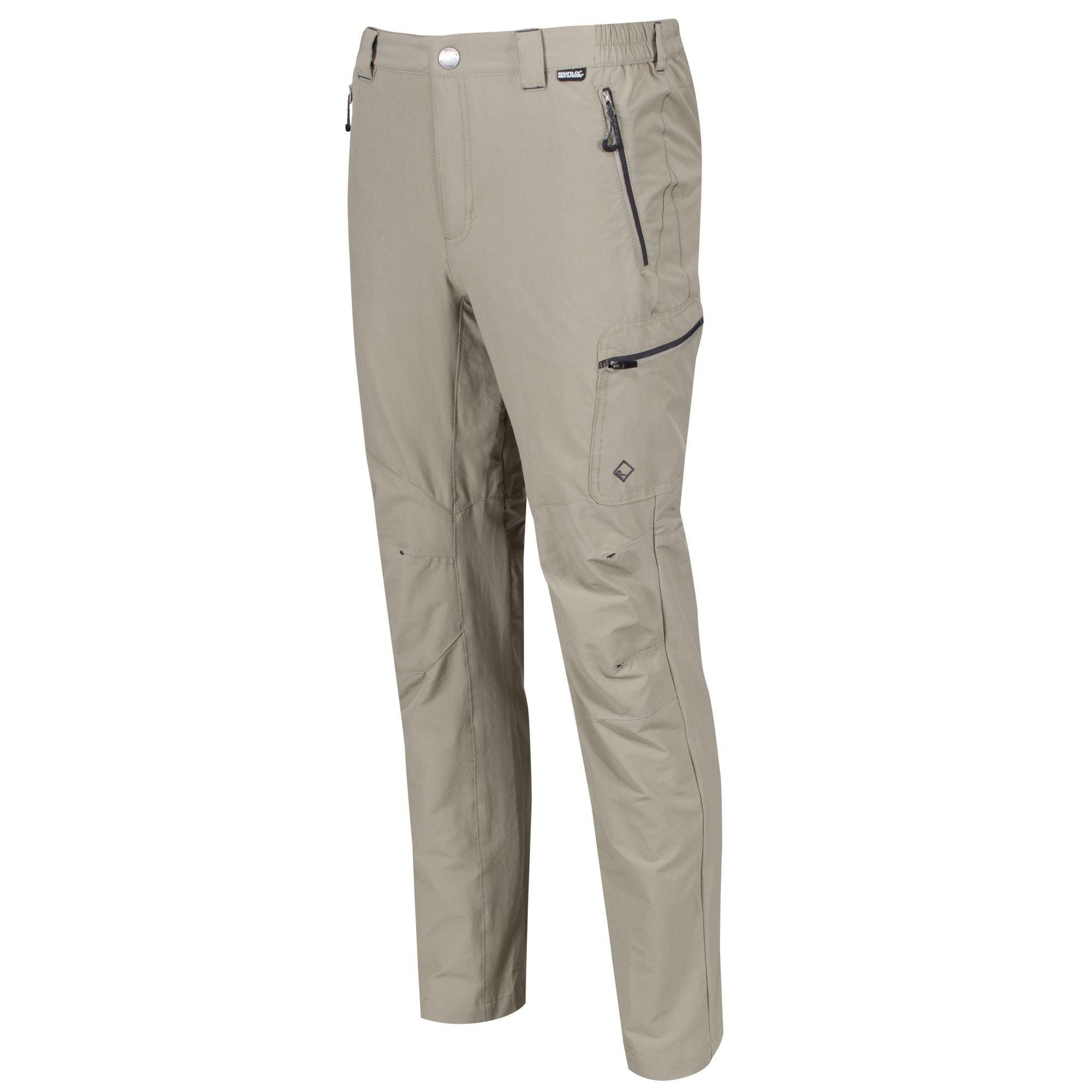 Regatta Mens Highton Zip-off Active Stretch Walking Long Length Trousers