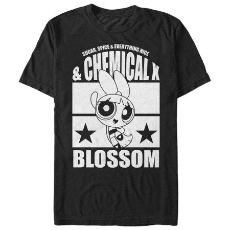 The Powerpuff Girls Men's Chemical X Blossom T-Shirt - Bubbles Powerpuff Girls
